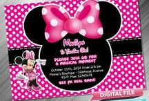 Minnie Mouse Birthday Invitation & Printable Party Decoration Idea
