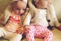 Twin baby fashion / Fashionable twin babies from London.