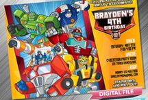 Rescue Bots Birthday Invitation & Printable Party Idea
