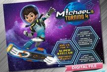 Miles From Tomorrowland Birthday Invitation & Printable Party Idea