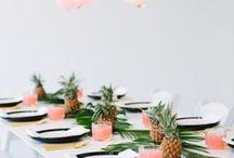 Party deco inspiration | Feest inspiratie / Inspiratie voor de aankleding van een feestje of diner!