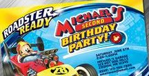 Mickey Roadster Racer Birthday Invitation & Printable Party Decoration Idea