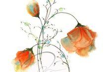 Art, Watercolors / Watercolors, paintings, scenery, floral, fashion illustration, DIY, art,  / by Kathy Bona
