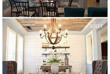 The Difference Paint Can Make / Paint and stain makeovers.
