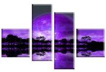Tablouri decorative din 4 piese / Tablouri decor, tablouri pentru living-uri moderne si stilate