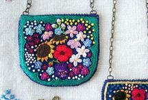 embroidered / modern hand and machine embroidery artwork / by Stephanie Lemay