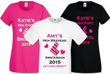 Hen Party T-shirts / Our new, matching T-shirt designs :)