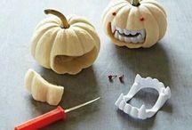 Halloween pumpkins and decor
