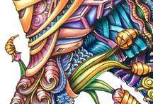 :mehr als malen:✍ / Zentangle und andere Kunstwerke