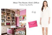 Wear the Room: Hot Pink Office as Buffy / Kim Bachmann's design studio translated to a perfect warm-weather outfit. Shop link in bio to find the Buffy dress in Ivory. Free shipping and returns!