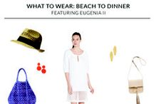 Day to Night: Eugenia II / From a delightful day on the beach to a fun dinner, our Eugenia II dress is the perfect choice for any vacation.  Free shipping and returns make trying our dresses effortless. Shop at www.KimandProper.com