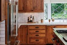 Kitchen Cabinets Stained / Cabinets make one of the biggest statements in a kitchen. Here are some gorgeously stained cabinets to get you inspired!