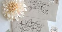 Calligraphy & Hand Lettering / I love calligraphy and love finding inspiration in hand lettering - the original typography