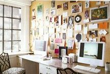 home office organization / Ideas for organizing and decorating a home office space. Tips for saving space and using the space and tools you have to create a beautiful space to enjoy every day.