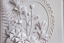 All White / Cards, flowers, art, crafts...all in white. / by Carol Feige