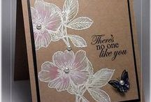 Cards with kraft paper / I love the way the rich khaki color of kraft paper looks and how it gives a homemade comfortable feel to the card. This board is for saving ideas for coloring, embellishing and designing for kraft cards. / by Carol Feige