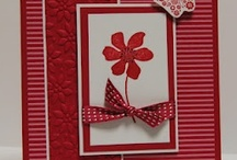 Cards: monochromatic / It's a challenge to make a monochromatic card interesting, but these cards do it. A bit of white, black or neutral might be there, but these cards basically are all one color in varying tones, patterns or textures. / by Carol Feige