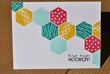 Cards with hexagons / by Carol Feige