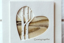 cards with negative space die cuts / by Carol Feige