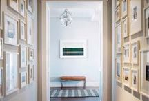 Entryway / Hallway Art Inspiration / Just because you're usually just passing through them doesn't mean hallways and entryways can't be gorgeous. / by Gallery Direct (Art + Design)