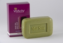 Dead sea Soap /  Contain pure Dead Sea mineral to Cleansing, removes impurities and condition the skin. It stimulates blood circulation enriches the skin with vital elements. Can be used for face and body. info@vivacitydeadsea.com / by VIVAcity Dead-Sea