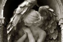 earth angels, angel sculptures and figures