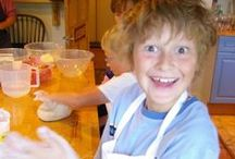 Family Cooking / Children love cooking, getting hands on with food and tasting the results. And we've yet to meet a parent who didn't love watching their children's delight as they cook, learn and experience new flavours. That's why we enjoy our Family Classes so much. #familycooking #breadmaking #cakes #pastry #pasta #cookerycourse #breadmakingcourse #mannafromdevon