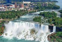 NIAGARA WATERFALLS CANADA SIDE AND AMERICA