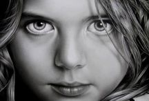 (A.J) Paper & Pencil / Amazing drawings in pencil,  charcoal, ink and pastels