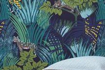Au mur - papier peint / De jolis papier peint pour mettre du green dans ta vie, du sol au plafond.