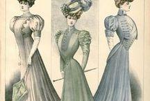 1900's fashion illustrations