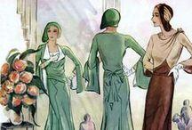 1930's fashion illustrations