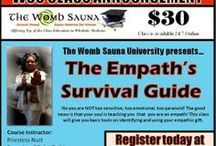 Online Empowerment, Health, & Wellness Classes / The Womb Sauna University provides life-changing courses to support the complete healing of your mind, body, spirit, and lifestyle. You will also find courses to help you with your day-to-day living, business, and more! Classes are available online 24/7/365.  / by The Womb Sauna