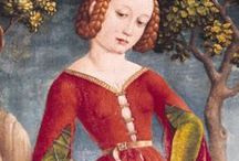 1400-1450 fashion in paintings