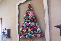 Stromčekové variácie / Netradičné nápady na vianočný stromček pre tých, ktorí zápasia s nedostatkom priestoru a/alebo chcú poňať Vianoce  ekologicky :-)