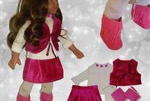 """American Girls Doll 18"""" Roby's Dolly Fashion / Vistiti per bambole American Girl Doll fatti a mano (da me) con tessuti e filati di qualità italiani. In vendita su Ebay oppure contattandomi direttamente"""