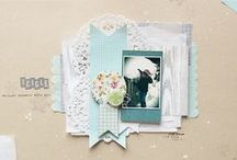Scrapbooking inspiration / My own scrapbooking style is eclectic, and I draw inspiration from so many places and artists.