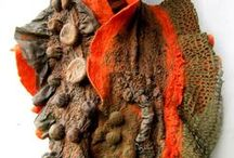 Felted scarves - nuno