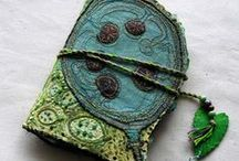 Felted/fiber journal covers