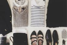 Suitcase Wardrobes. / Outfit inspiration for traveling