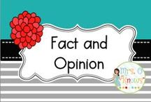 Fact and Opinion / fact and opinion resources and ideas for the classroom