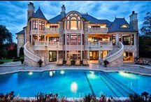 Dream House / Beautiful Dream home ideas and inspiration mansion lake house beach house huge