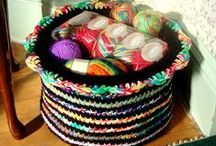 Crocheted Baskets / Free patterns, rockin' tutorials, and crafty basket creations from the manor.