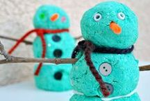 Winter / Winter crafts and activities. Plus sensory related winter play!