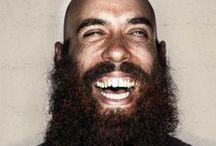 beards and bald heads