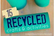 Recycled Activities for Kids / Crafts & Activities for Kids using recycled materials.