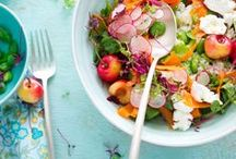 Saladas...deliciosas!! / Não pode faltar salada em minhas refeições!!!Delícia!
