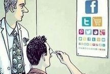 Social Media Humor / These are cartoons of the funny aspects of social media. Good, clean fun.