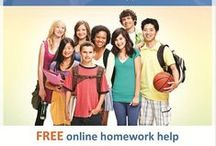 Homework Help / Get help with your homework.  There are numerous online databases that will make your research a breeze.