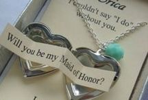 Bridal Party Gifts / Bridesmaids, groomsmen, flower girl, junior bridesmaids, ring bearer, fathers & mothers.  Don't forget anyone for bridal gifts.  Make everyone feel special for participating in your wedding and buy them a memorable gift.